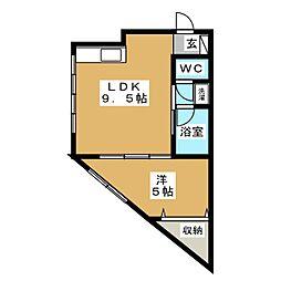 コーポおおとり5号館[3階]の間取り