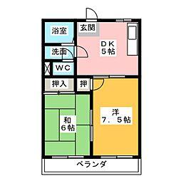 グローバルA[1階]の間取り