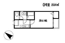 福岡県福岡市南区清水2丁目の賃貸アパートの間取り