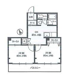 コーポサンライフ太田町[4階]の間取り