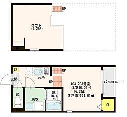 仮)大塚町4丁目SKHコーポ[2階]の間取り