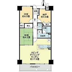 「ライオンズマンション桃山南口」[1階]の間取り