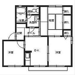 アベリア新家[2階]の間取り