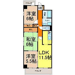 レジデンス鈴木[11階]の間取り