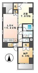 G next nagono(ジーネクストナゴノ)[5階]の間取り