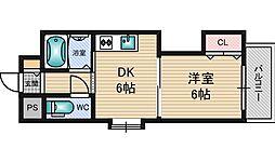 有馬パレス新大阪[7階]の間取り