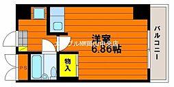 ルフォン岡山駅前[2階]の間取り