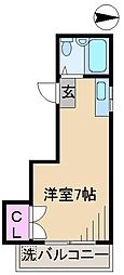 新井第3パティオ[3階]の間取り
