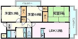 兵庫県神戸市西区竜が岡4丁目の賃貸マンションの間取り