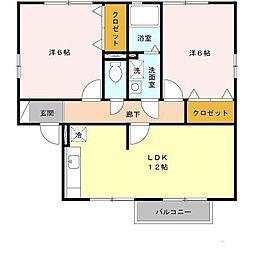 EAST NONAMI 七番館[2階]の間取り