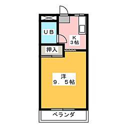コーポ永坂[2階]の間取り