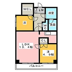 上浅田レジデンス[2階]の間取り