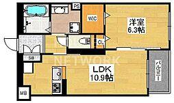 Classy壬生(クラッシー)[207号室号室]の間取り