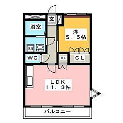 アーバン平田[1階]の間取り