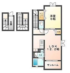 サイドハウス[3階]の間取り