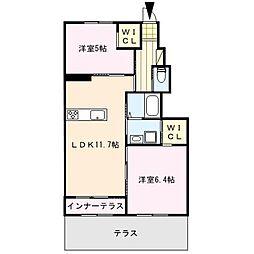 ラフィーネA[1階]の間取り