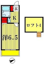 WING北松戸[1階]の間取り