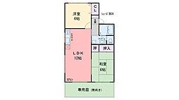 タウンハウス飯倉[102号室]の間取り