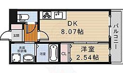 大阪モノレール彩都線 阪大病院前駅 徒歩7分の賃貸アパート 2階1LDKの間取り