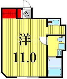 東京メトロ日比谷線 三ノ輪駅 徒歩4分の賃貸マンション 1階1Kの間取り