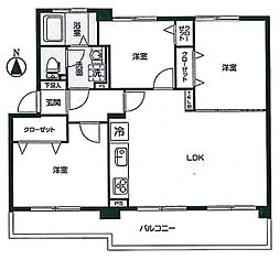 西けやき台団地2号棟 4階