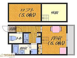 大阪府堺市堺区向陵東町2丁の賃貸アパートの間取り