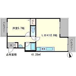 ライオンズマンション鴨川北[2階]の間取り