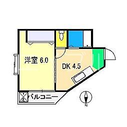 ハイツYN[4階]の間取り