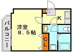 クレール七隈[2階]の間取り