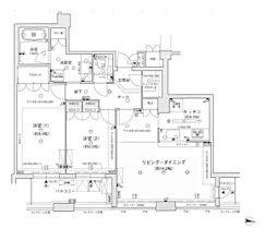 ディーグラフォート大阪NYタワー肥後橋 40階2LDKの間取り