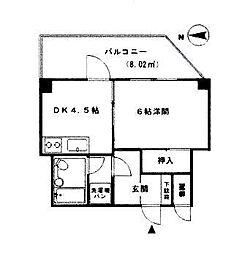 ライオンズマンション南薬院[8階]の間取り