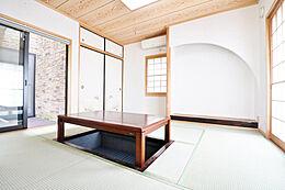 1年中お部屋を快適な状態に保ってくれる和室のお部屋。