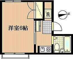 メゾン平間[3階]の間取り
