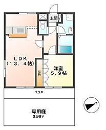 colonnade(コロネード)[103号室]の間取り