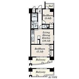 プレミアマルシェ白壁[10階]の間取り