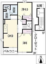 アンフィニ鈴木II[2階]の間取り