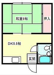伊藤マンション[303号室]の間取り