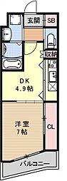 GrandE'terna京都[1503号室号室]の間取り