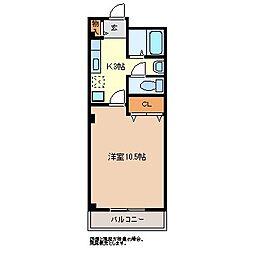 サンパレス本藤B棟[1階]の間取り