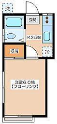 亀井ハウス[1階]の間取り