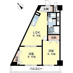 第6柴田ビル[8階]の間取り