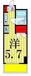 コスモ亀有V[1503号室]の間取り