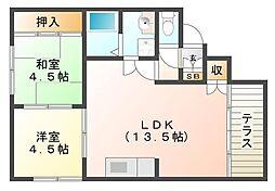岩永ハイツ[1階]の間取り