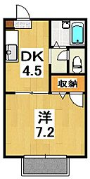 神奈川県小田原市久野の賃貸アパートの間取り