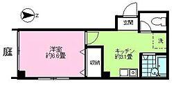 新宿7丁目マンション[1号室]の間取り
