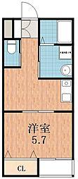サンコート勝山[2階]の間取り