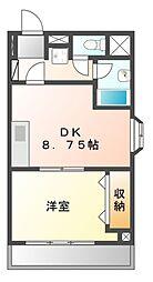 メゾン三京[4階]の間取り