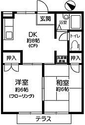 サマックスOHSAWA[102号室]の間取り