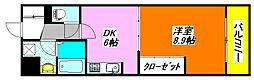 布施・ハイライン 312号室[3階]の間取り