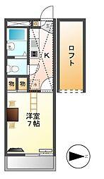 レオパレス太閤[2階]の間取り
